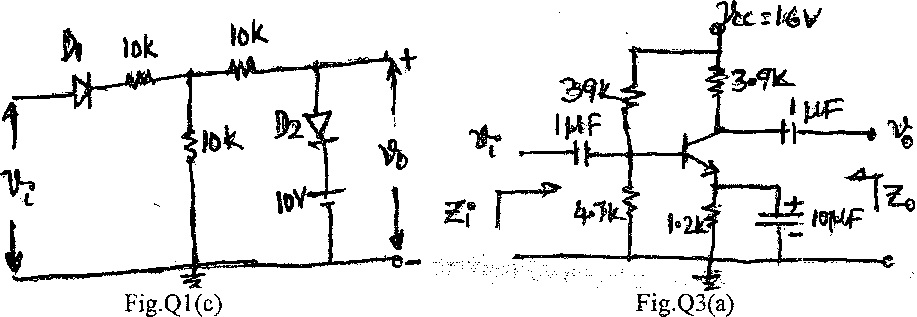 vtu previous question papers analog electronic circuits
