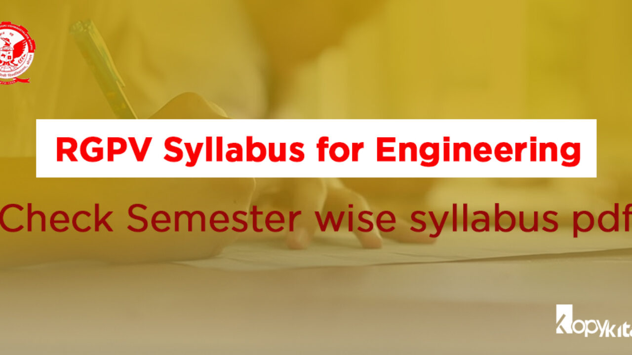 RGPV Syllabus for Engineering | Check Semester wise syllabus pdf