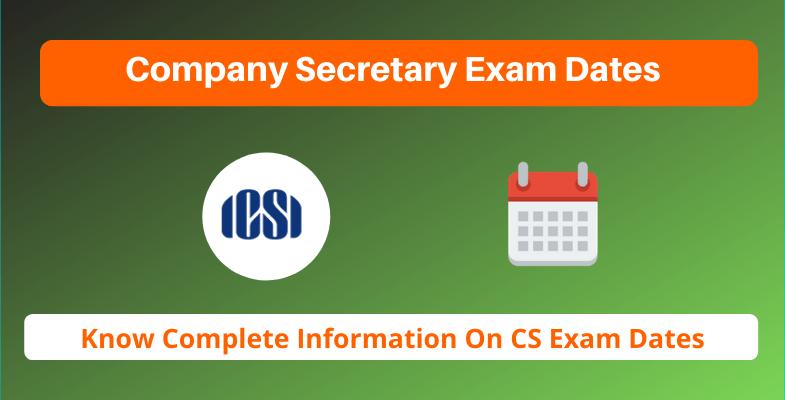 company secretary exam dates 2020  icsi cs exam timetable
