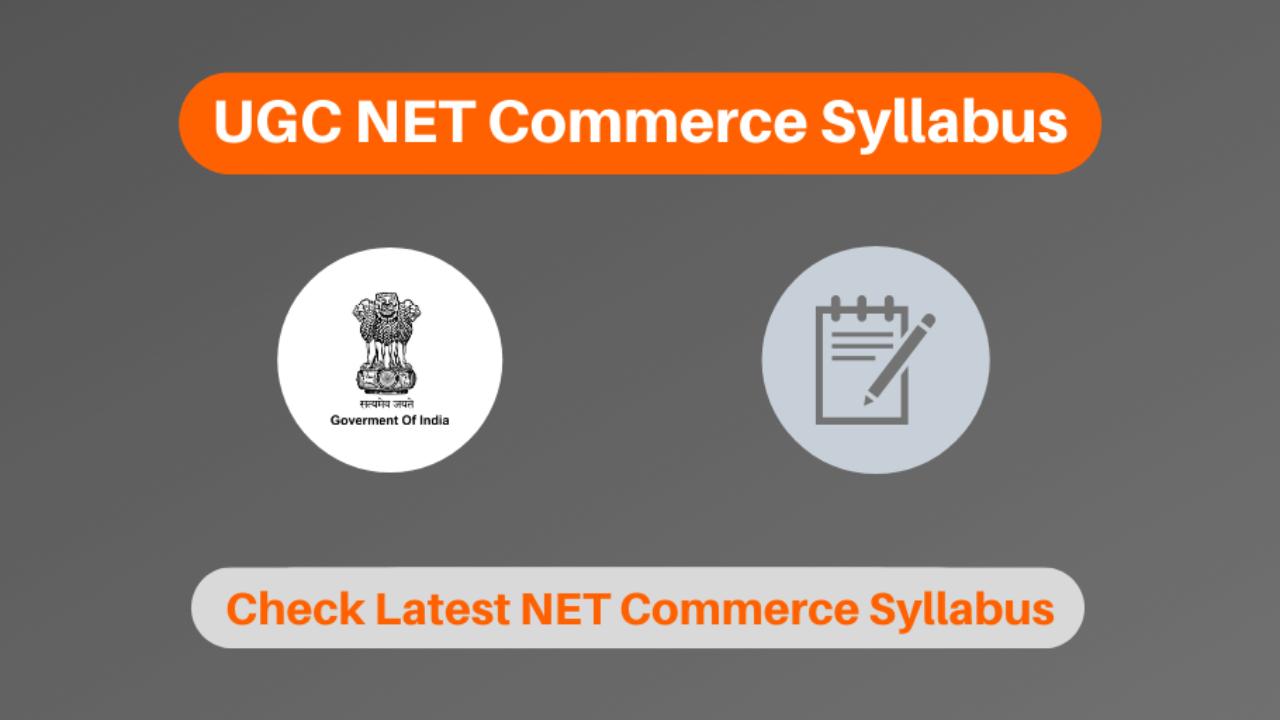 Ugc Net Commerce Syllabus 2020 In Hindi English Download Pdf