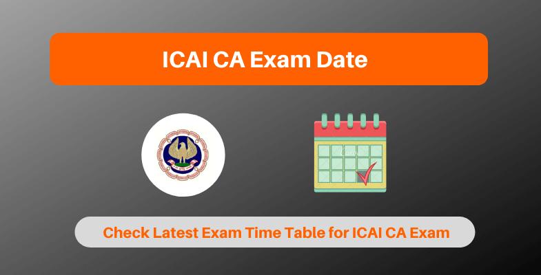 icai ca exam dates 2020  revised icai ca exam schedule